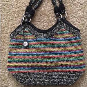 THE SAK crocheted multi color hobo bag / purse